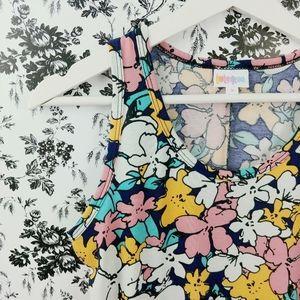 Lularoe Dani floral tank flowy maxi dress sz S